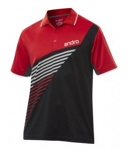 Andro Shirt Harris Cotton red/black