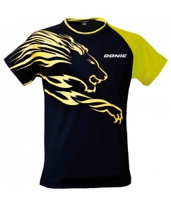 Donic T-shirt Lion black/yellow