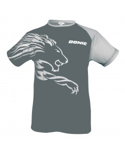 Donic T-shirt Lion dark grey/light grey