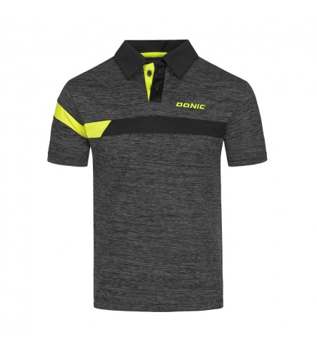 Donic Shirt Stripes anthracite/black/yellow
