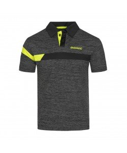 Donic Shirt Stripes anthracite/black/yellow