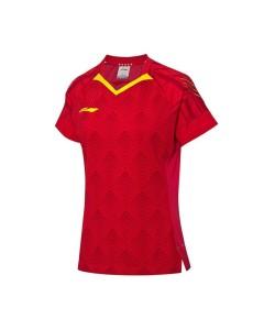 Li-Ning Women's T-Shirt National Team AAYQ056-3 red
