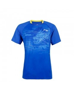 Li-Ning T-Shirt AAYQ063-1 crystal blue
