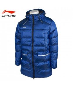 Li-Ning Down Coat AYMQ107-3C blue