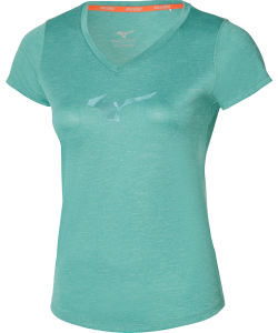 Mizuno T-shirt Lady Core RB Graphics Tee dusty turquose