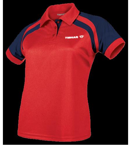 Tibhar Shirt World Lady (Poly) red/navy